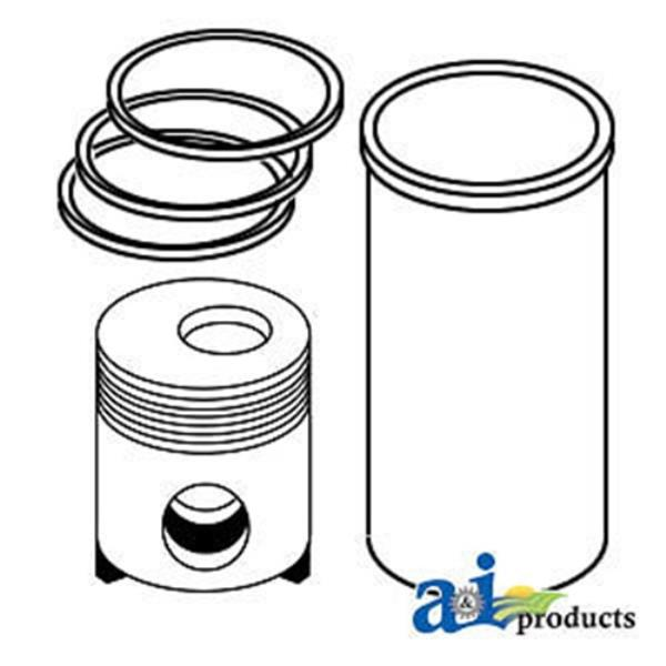 John Deere Parts Piston Liner Kit Re508156 8410 8410t 604716766108