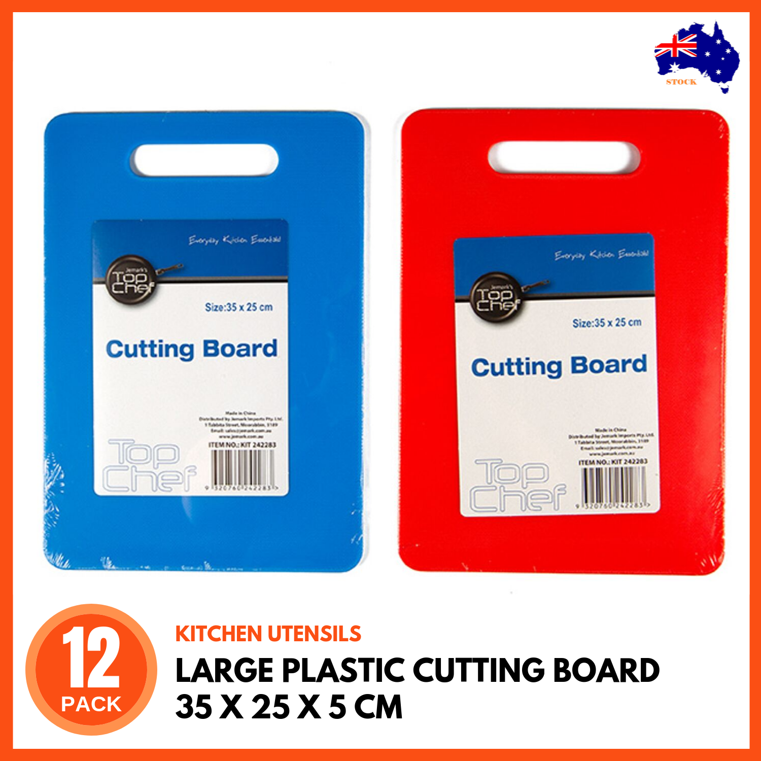 12 X Large Plastic Chopping Boards Cutting Board 35x25cm Kitchen Cutting Block Ebay