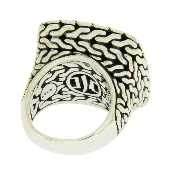 Solid Sterling Silver Rope /& Studded Band Ring»R212