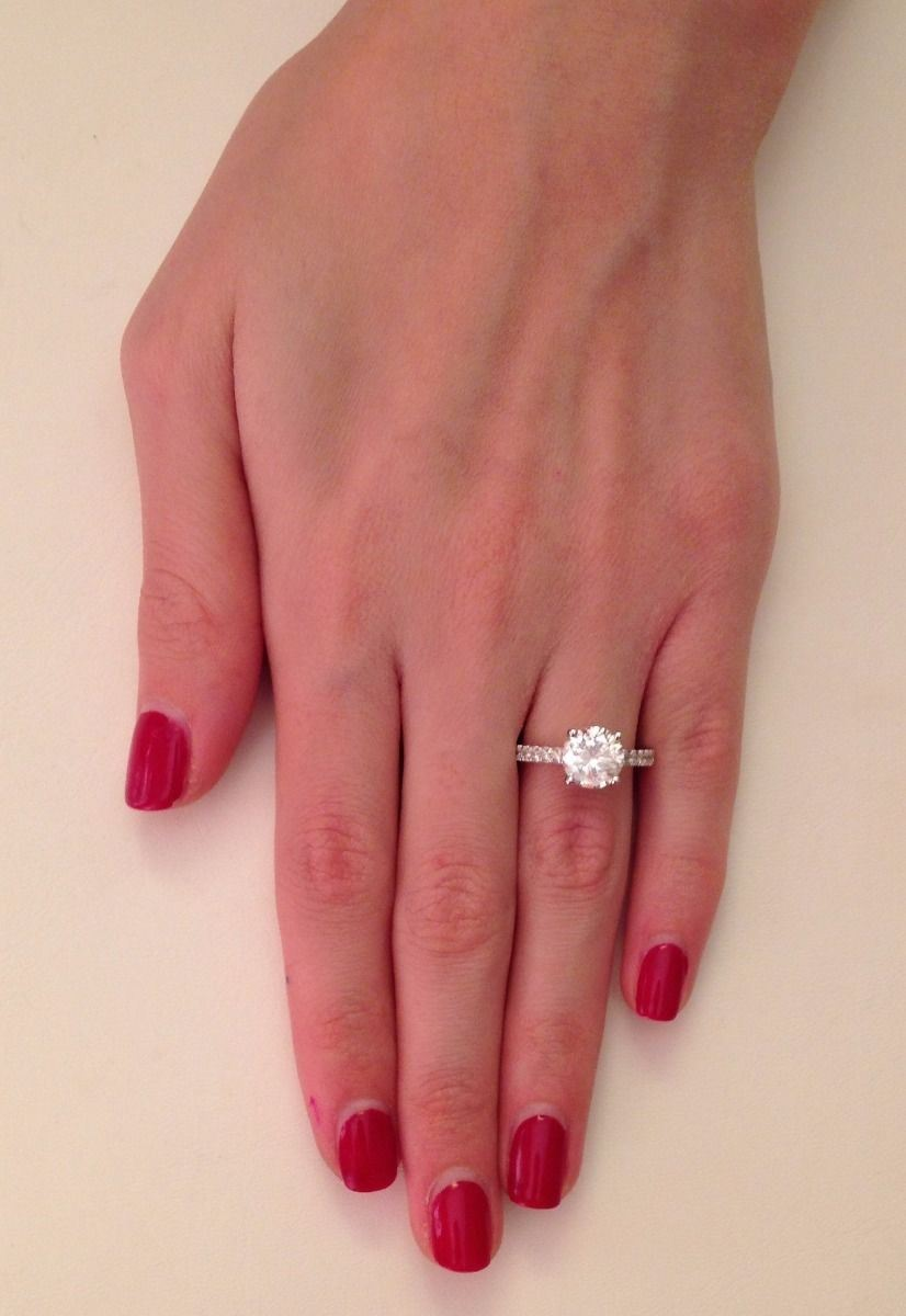 Classic 2.50 ct SI1/D Round Cut Diamond Solitaire Engagement Ring ...