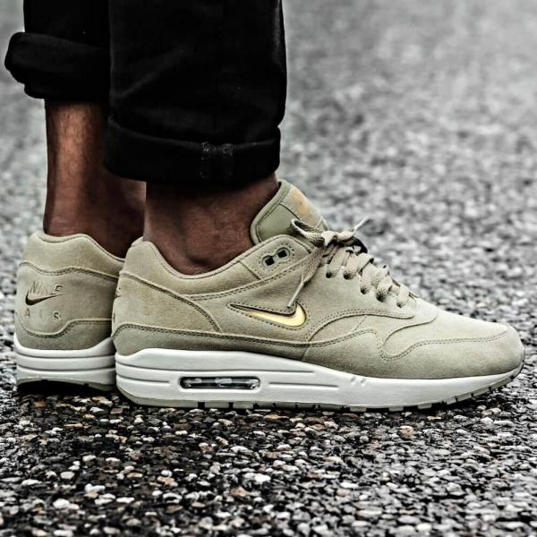 Get This Nike Air Max 1 Premium Jewel Neutral Olive Now