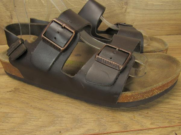 good service pre order pretty nice Birkenstock Made in Germany Brown Milano Leather Sandals Mens Wide ...