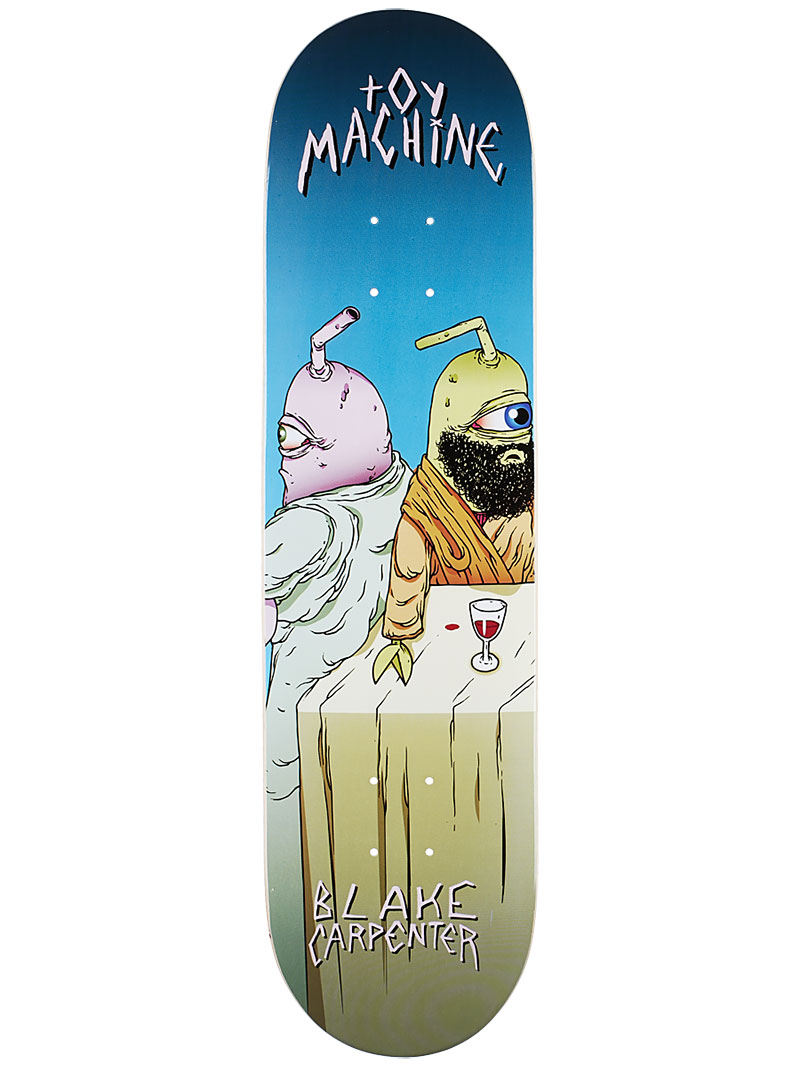 Toy Machine Skateboard Deck Carpenter Last Supper 8 Pro 1 of 8 FREE POST & FREE GRIP