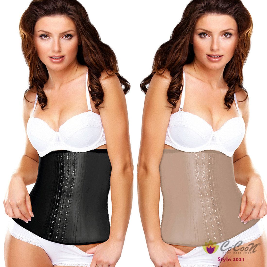0884e89c1a6ab Latex High Compression Firm Waist Trainer Cincher 3-Hook Corset Fajas  Colombiana