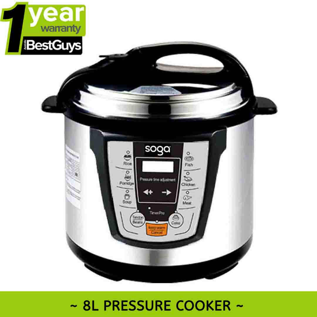 Details about New SOGA 8L Electric Digital Automatic Non-stick Fast/Slow  Pressure Cooker 16
