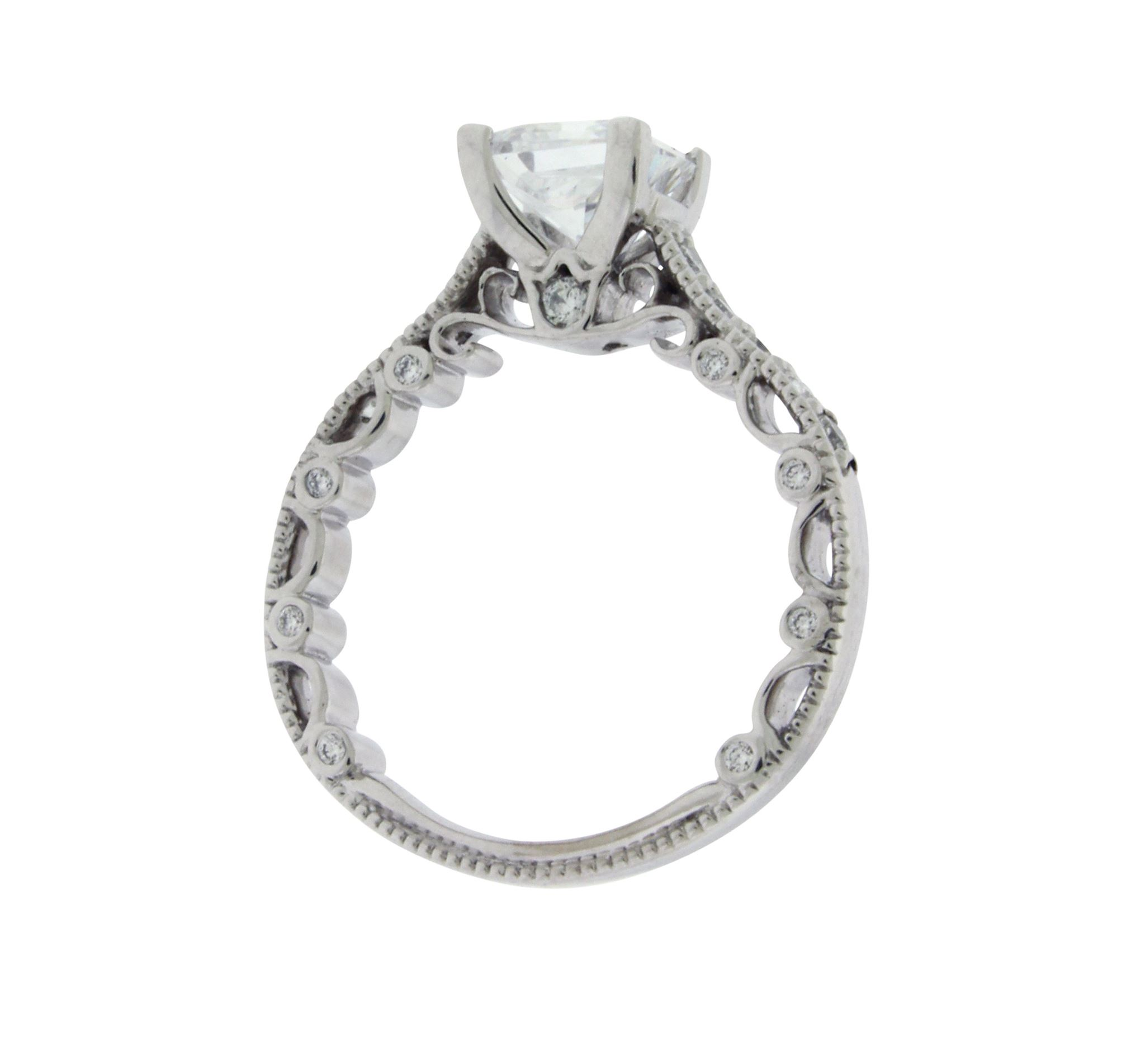 center of parisian halo engagement diamond carat round wit laying preset rounded front ring g rings square best
