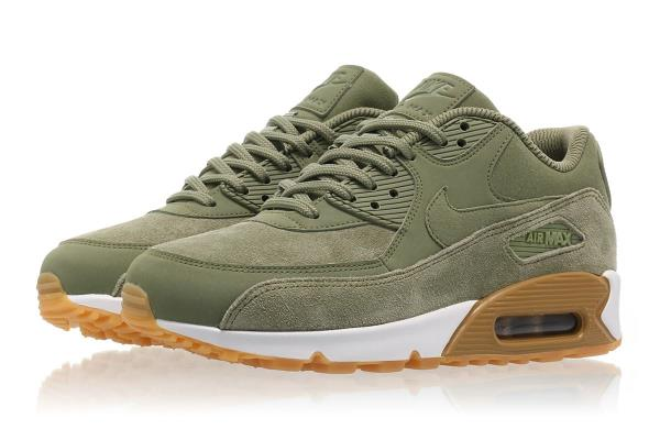 NIKE WMNS AIR MAX 90 SE Oil Green Size 5 6 7 9 Women's Shoes 881105 300