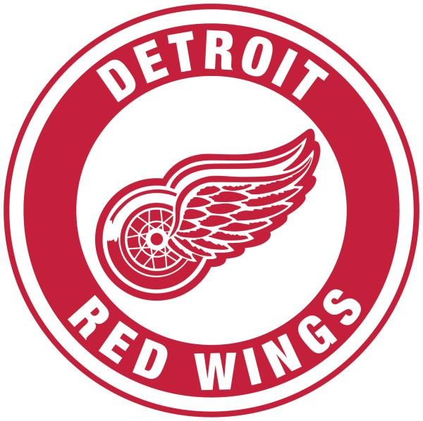 Nhl Detroit Red Wings Logo 4 X 4 Inch Outdoor White Decal