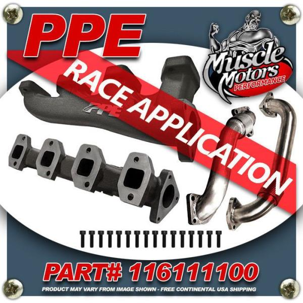 Details about PPE #116111100 RACE High Flow Exhaust Manifolds with Up-Pipes  for Twin Turbos