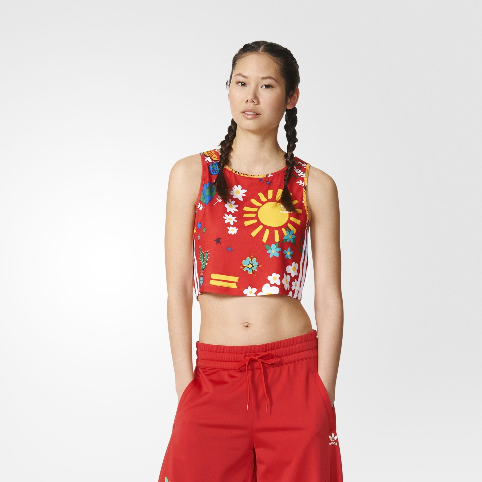 separation shoes df036 cd6fe Details about adidas x Pharrell Womens Artist Cropped Tank Vest Originals  CLEARANCE   AO3154