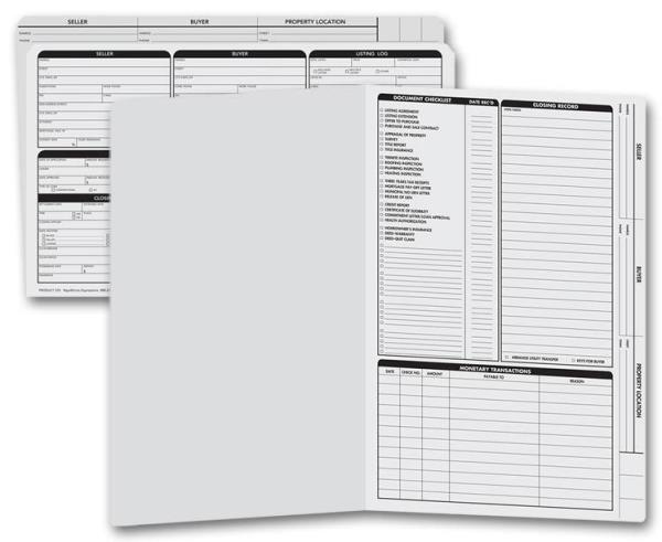real estate checklist real estate listing folders wchecklist legal size new ebay