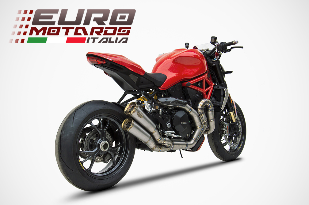 Ducati Monster 1200 R >> Details About Ducati Monster 1200 R S 17 18 Zard Exhaust Full System Silencer Racing New 4kg