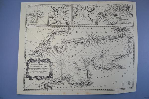 Vintage marine chart sheet map a correct chart of the english vintage marine chart sheet map a correct chart of the english channel bw ccuart Image collections