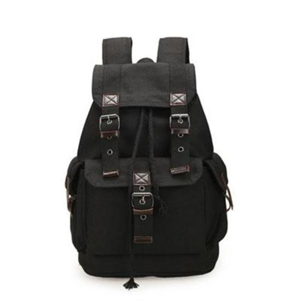 c2a7d13a61 Men s vintage canvas backpack travel bags large capacity 3 colors