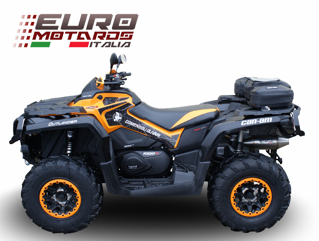 can am outlander 1000 r max xtp 2014 gpr exhaust slipon silencer deeptone atv ebay. Black Bedroom Furniture Sets. Home Design Ideas