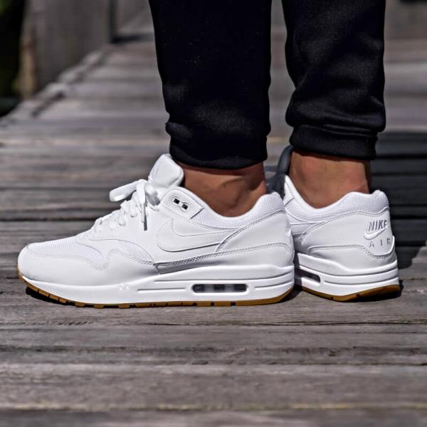 Details about Nike Air Max 1 Sneakers White Gum Size 8 9 10 11 12 Mens Shoes New