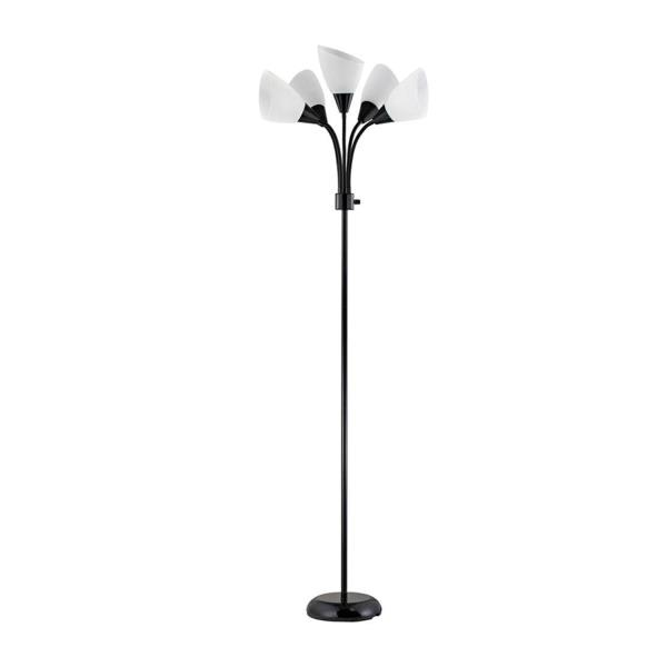 CONTEMPORARY FLOOR LAMP 5 Bulb Modern Adjustable Stand Light Living Room  Home
