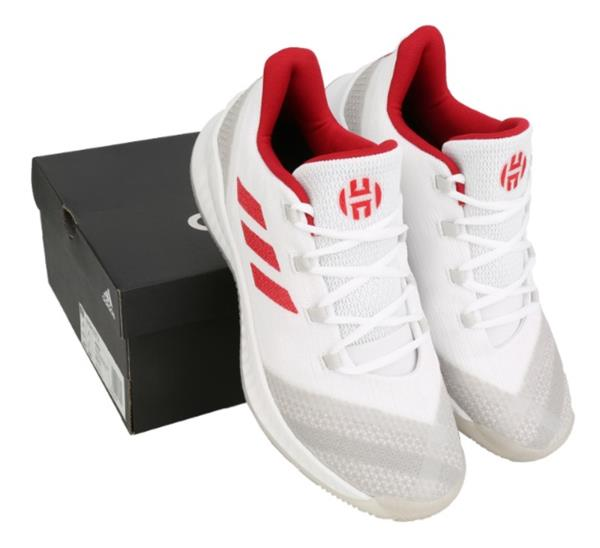8cd16140a4f Adidas 2018 Men Harden B E 2 Shoes Basketball White Red Sneakers GYM ...