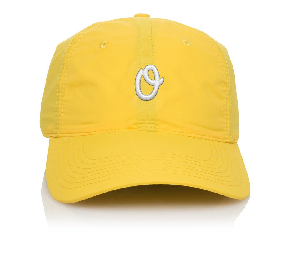 Official Cap Miles Olo Fakie Yellow 6 Panel Unstructured Strapback Skateboard Hat OSFM CFREE POST New