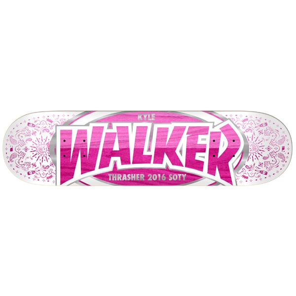 Real Skateboard Deck Walker SOTY 8 Thrasher 2016 FREE POST FREE GRIP