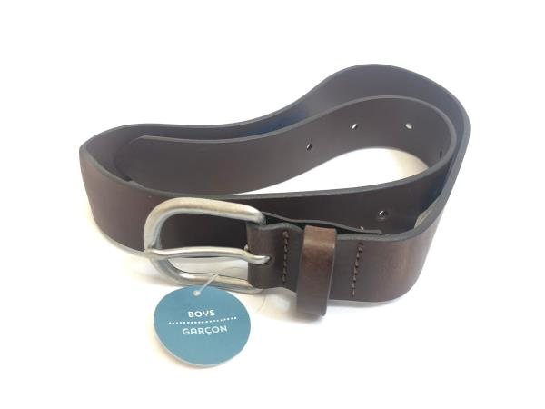 """#9900 BOYS 1.25/"""" WIDE BLACK EMBOSSED LEATHER BELT /& FREE USA SHIPPING"""