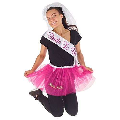 Details about KreativeKraft Hen Party Kit Fancy Dress up Outfit Ladies  Bride to Be , 3 Pieces