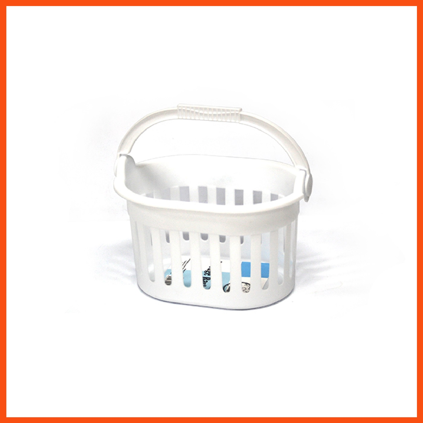 48 x clothespins carrier basket white plastic laundry