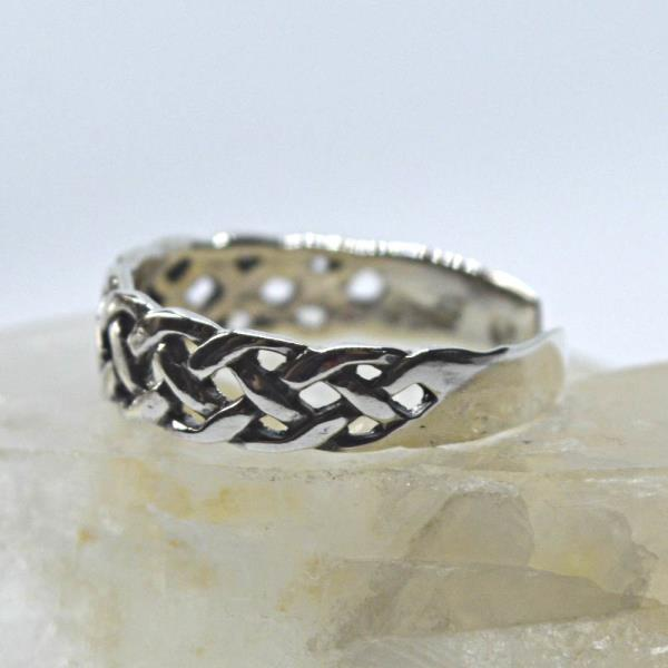 Sterling Silver Celtic Knot Design Adjustable Toe Ring~wicca~pagan~jewellery #1 Wicca