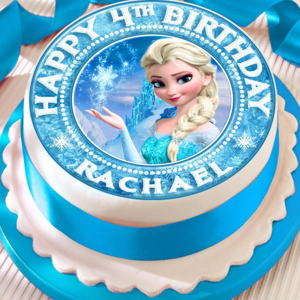 Frozen Personalised Elsa Precut Edible Birthday Cake Topper