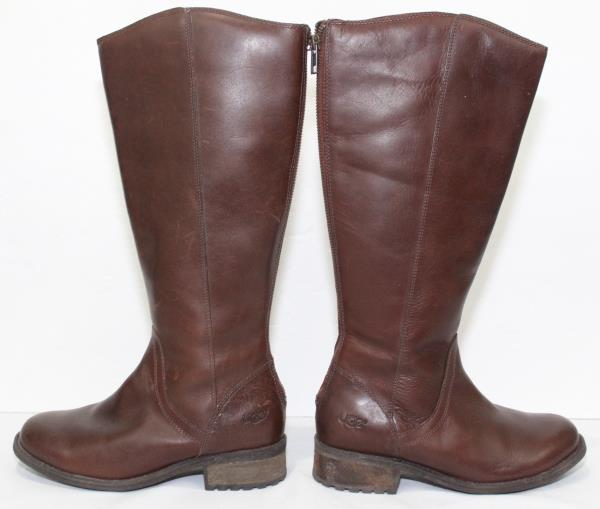 f9be62d4b28 Details about UGG Australia Womens Seldon Brown Leather Tall Riding Boots  Knee High Size 6 EUC