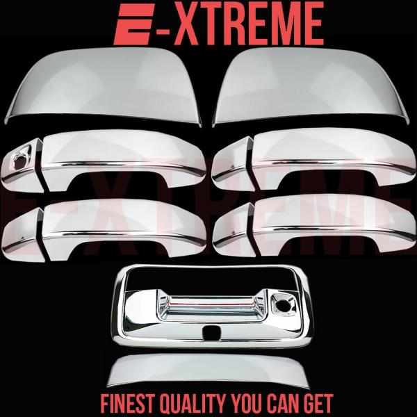 Chrome Covers Set Tailgate /& Top Half Mirrors For Chevy Colorado 2015 2016 2017