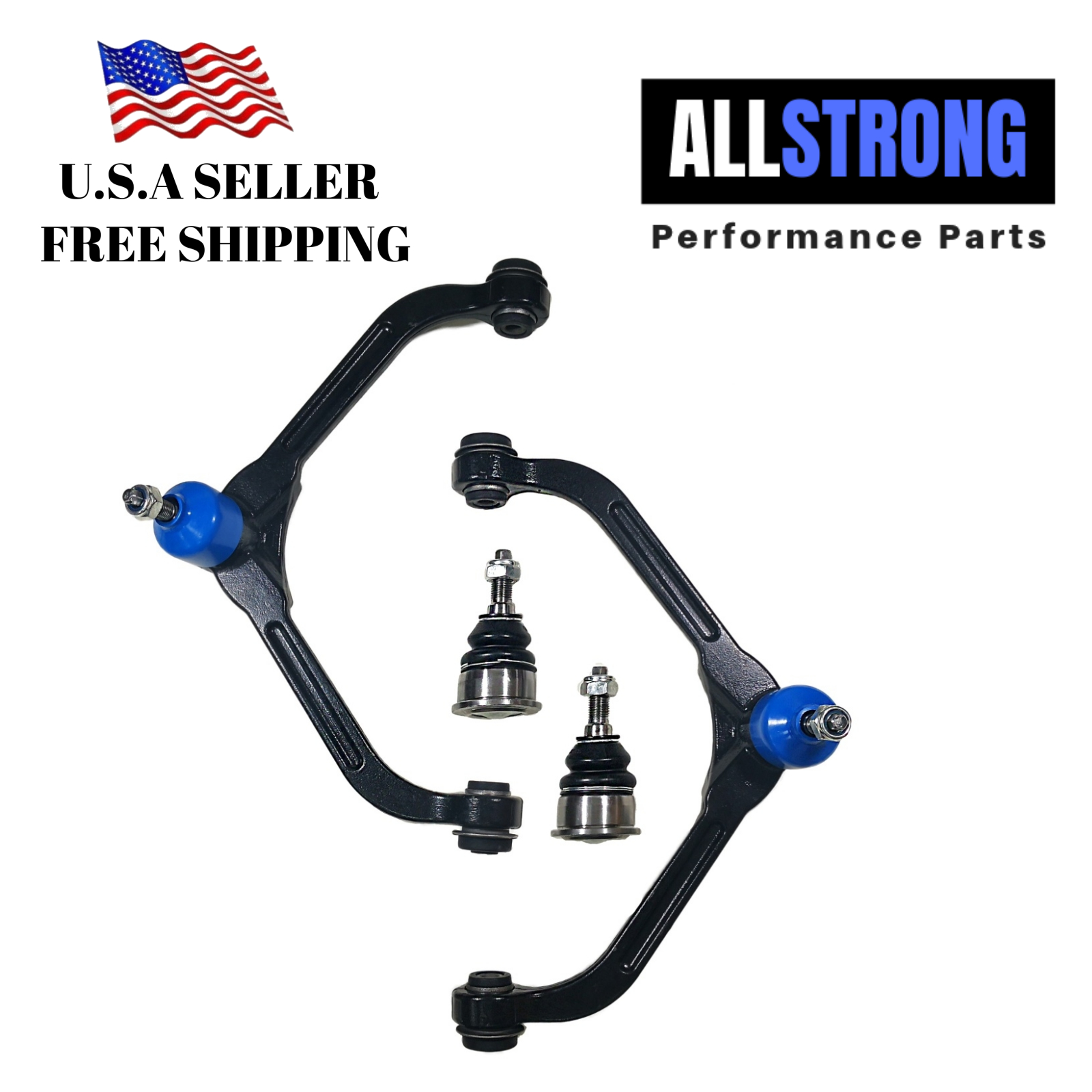 2 PCS Front Upper Control Arm /& Lower Ball Joints Fit JEEP LIBERTY 2002-2004