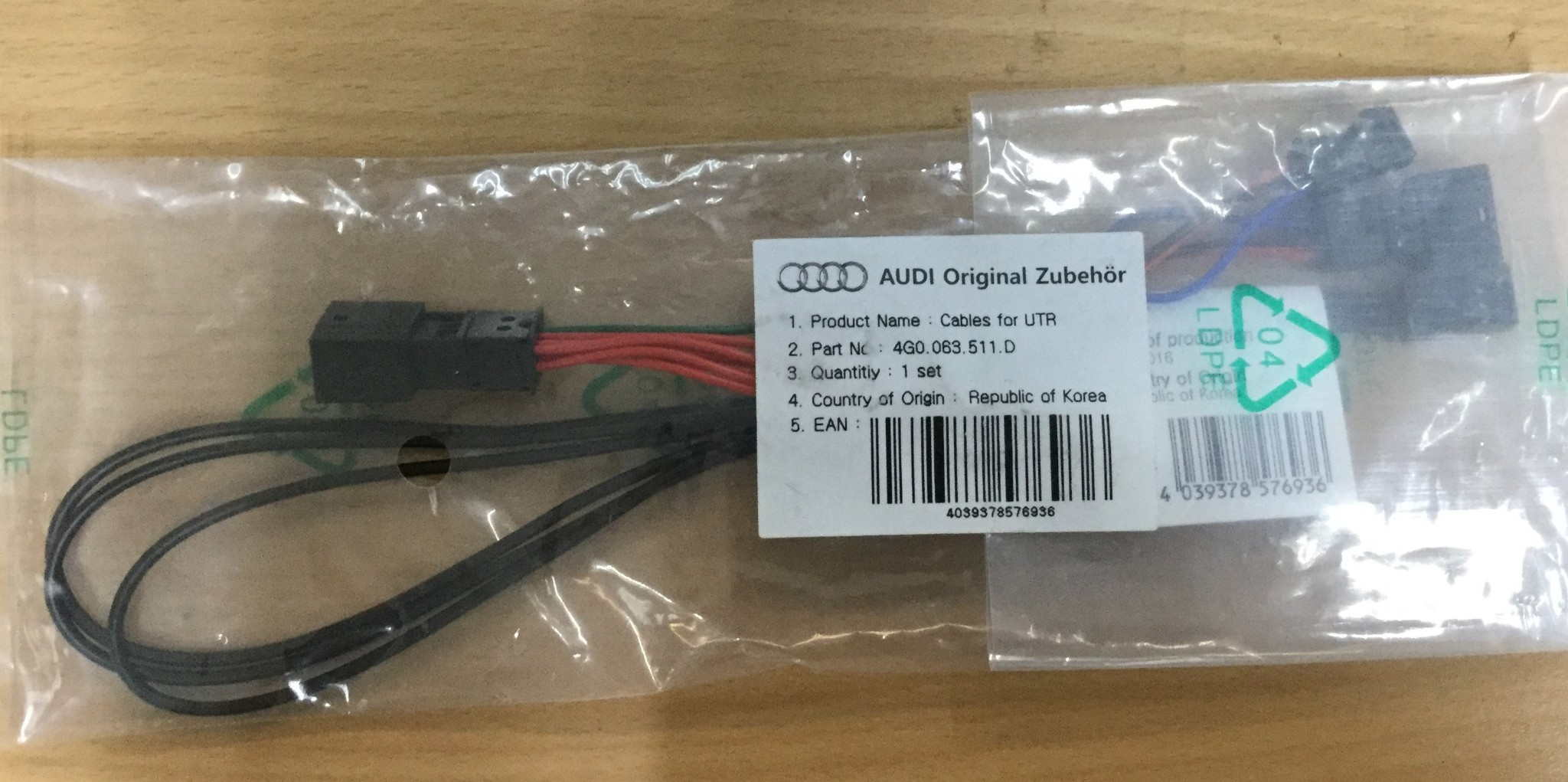 New Genuine Audi Wiring Harness for Universal Traffic Recorder ...