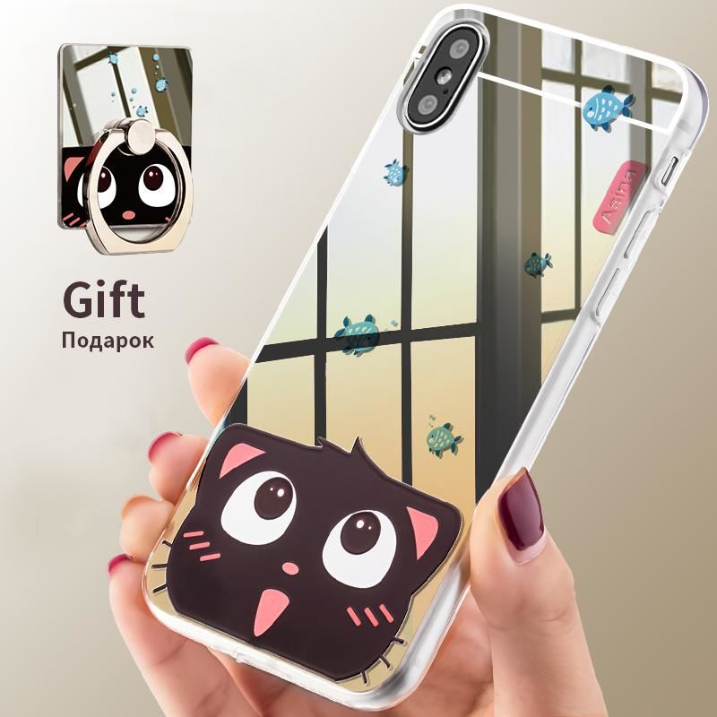 best website ab3fa 98ac8 Details about Mirror TPU Cases For iPhone X Case Mirror With Ring Holder  Case For iPhone X