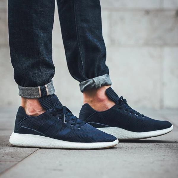 Adidas Pure Boost Busenitz Pk Primeknit Navy men Size 8-12 nmd y3 eqt hu  runner. 100% AUTHENTIC OR MONEY BACK GUARANTEED