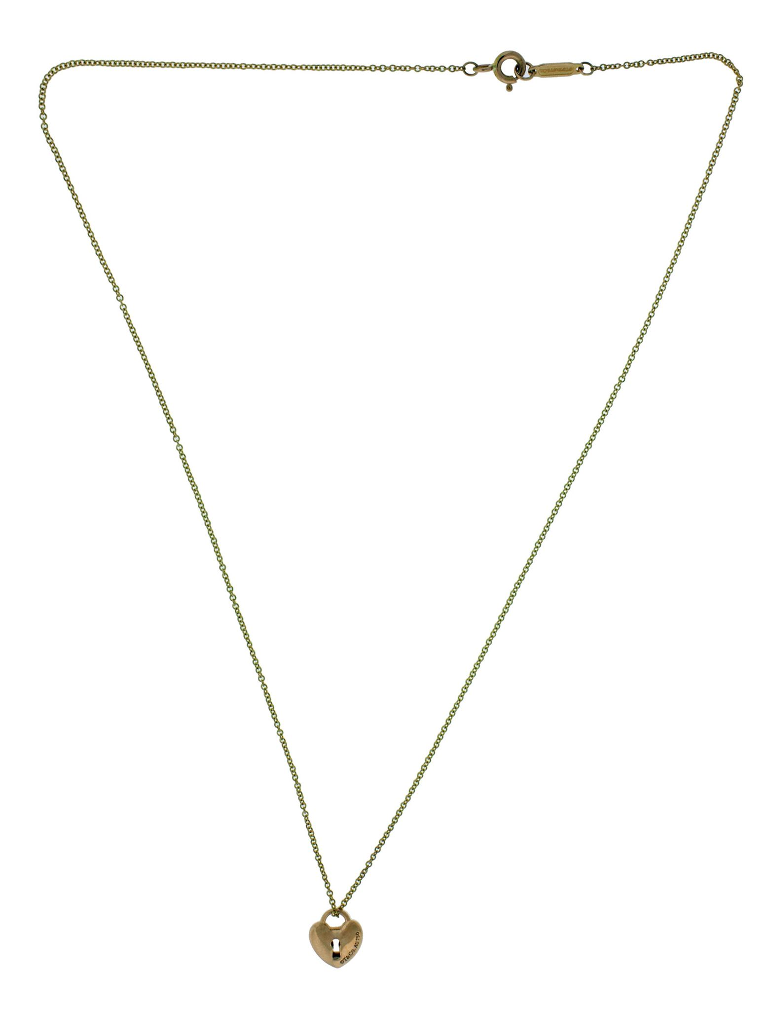 Tiffany & Co Locks small heart lock necklace in 18k rose gold 16