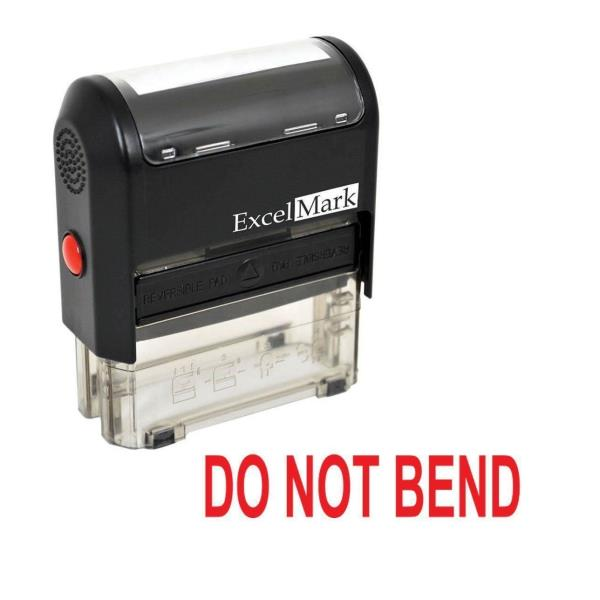 Photographs DO NOT Bend ExcelMark Self-Inking Rubber Stamp A1539 Red Ink