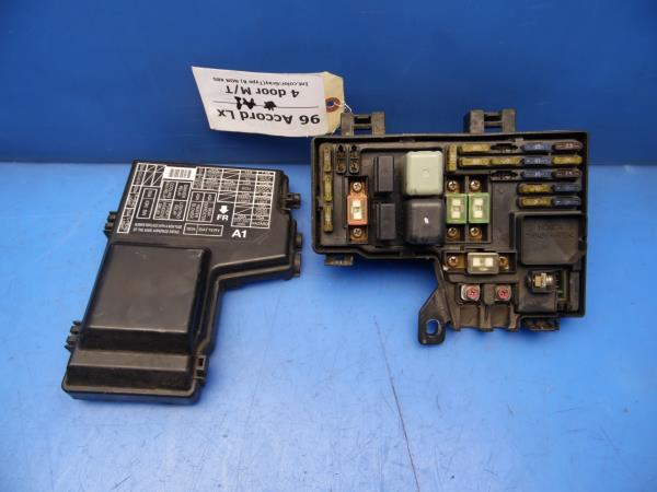 details about 96 97 accord oem under hood fuse box w fuses & relays stock factory 4 cyl a1  1996 honda fuse box #12