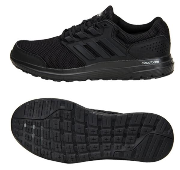 Details about Adidas Men Galaxy 4 Cloudfoam Training Shoes Running Black  Sneakers Shoe CP8822