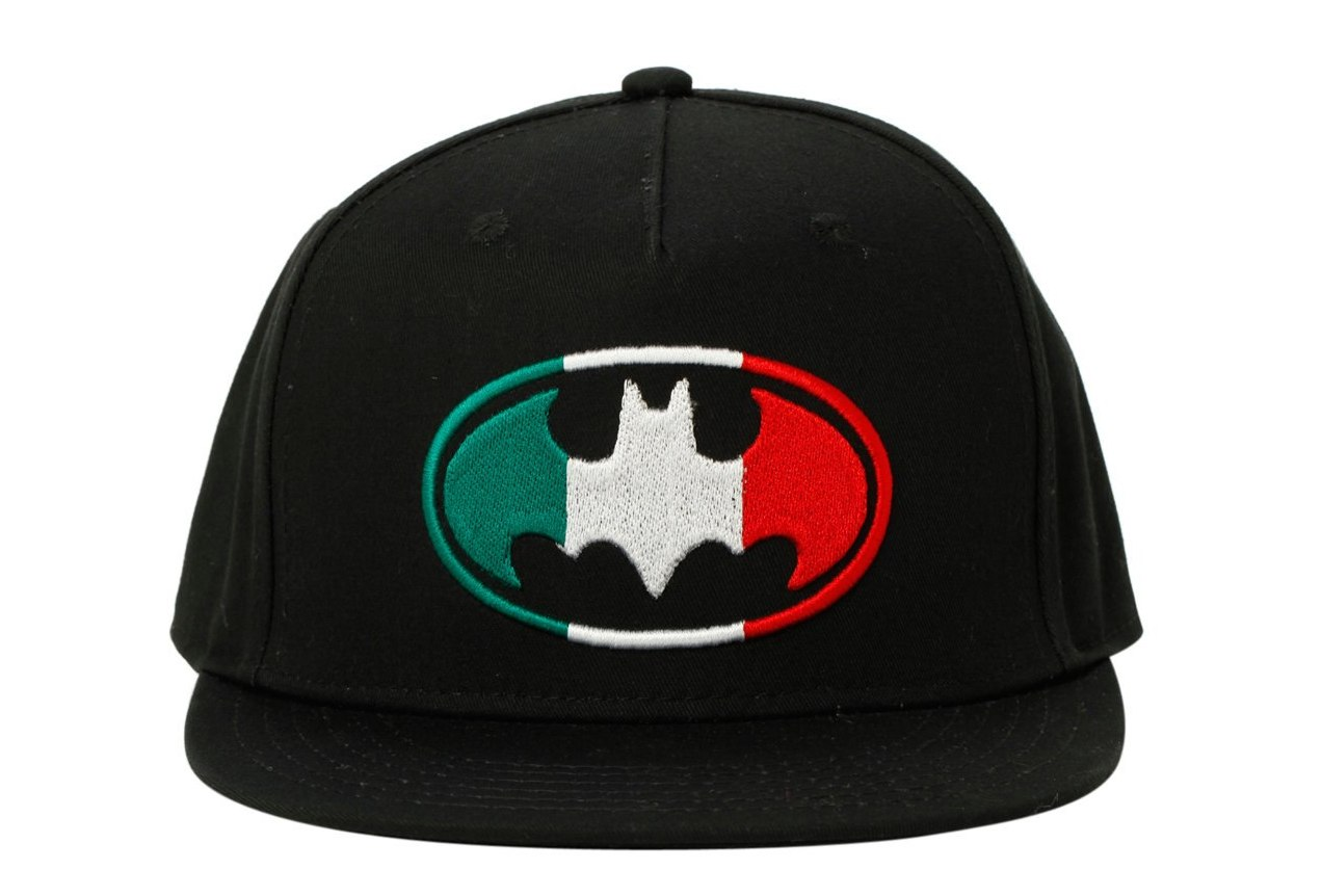 48048402f31ae New DC Comics Batman Logo Mexico Flag Snapback Hat Embroidered. click  thumbnails above to enlarge