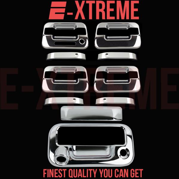 FOR FORD 04-14 F-150 CHROME 4DRS HANDLE W//O PSKH,KEYPAD+TAILGATE COVER W//KEYHOLE