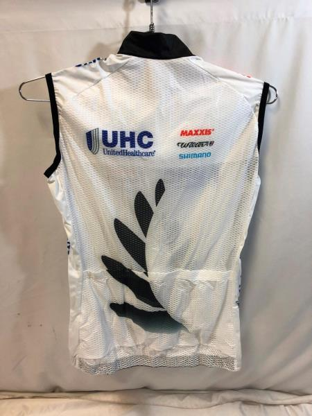 United Healthcare Vermarc Donna Womens Cycling Light Vest Medium Road Bike  NEW 9782f494d