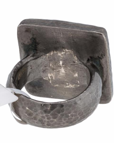 Luxo Jewelry News Letter - Premium Jewelry - ▌Authentic GURHAN Silver Yellow Gold Amulet Square Ring Size 6.75 »$ 795