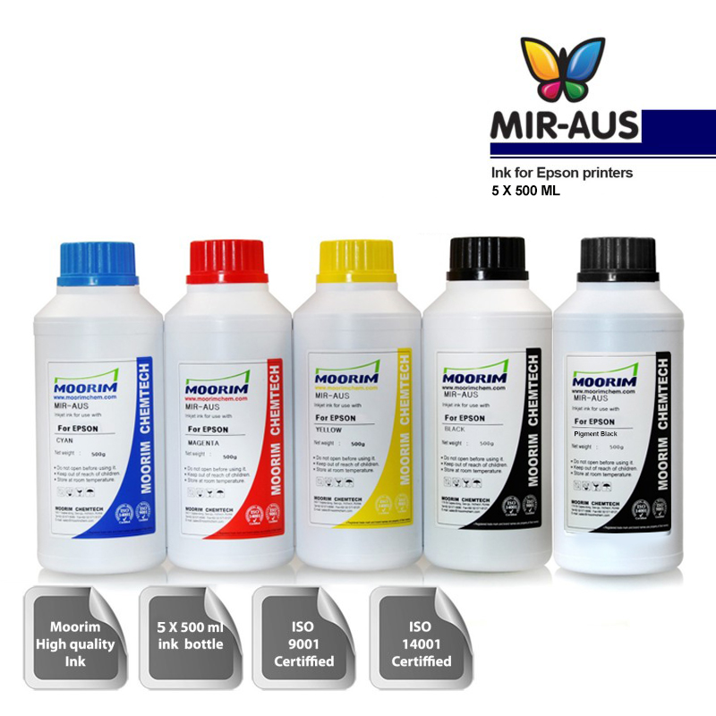 5x500ml dye/pigment ink for Eco Tank Epson Expression