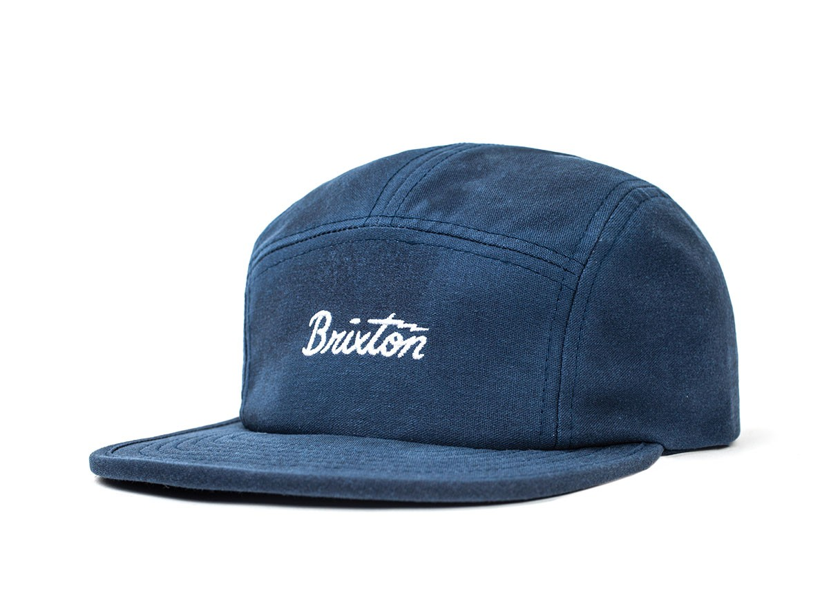 Brixton Cap Jolt 5 Panel Indigo Strap Back MFG Supply Co Skateboard Hat