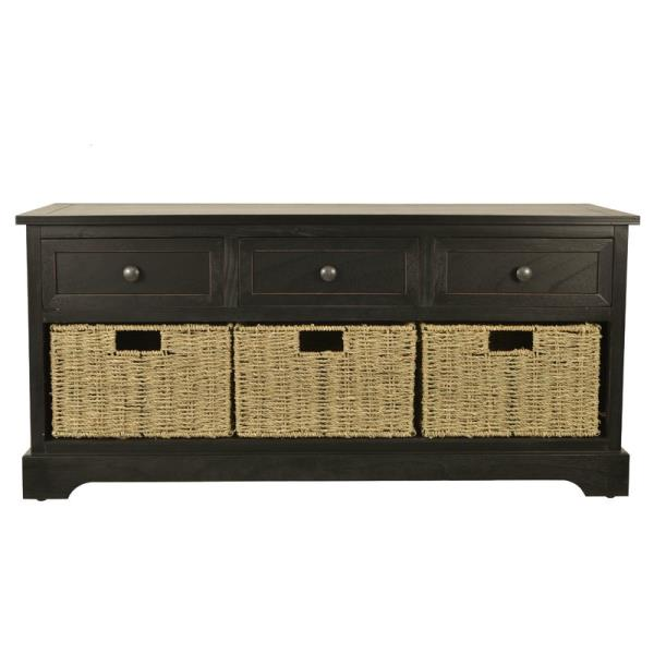 Stupendous Details About Black Wooden Storage Bench Entryway Seat Mud Room Bedroom Entry Shoes Baskets Machost Co Dining Chair Design Ideas Machostcouk
