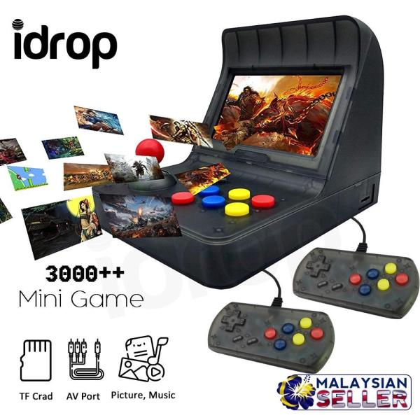 Details about CRAZYBOSS idrop Classic 4 3 Inch Retro Mini Handheld Console  3000 Game 2 Handle