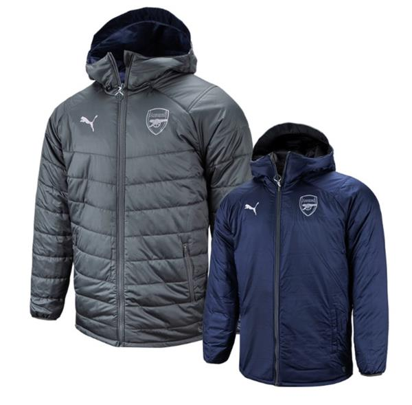 b7a1c100a Details about Puma Men Arsenal FC Reversible Bench Padded Jacket Winter  Coat Padded 75323806