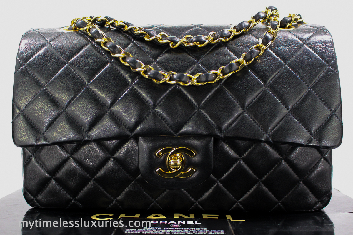 7828d6d9b340 CHANEL Medium  Large Classic Flap in Black Lambskin   Gold Hardware. The  most classic   iconic CHANEL bag of all time!