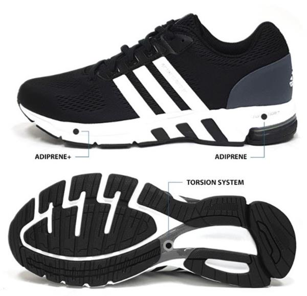 the latest 94e73 7fc18 Details about Adidas Men Equipment 10 Shoes Running Black Training Sneakers  Couple Shoe B96491